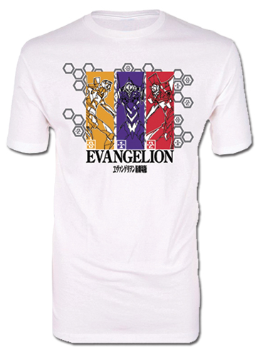 Evangelion - Group Men's Screen Print T-Shirt S, an officially licensed product in our Evangelion T-Shirts department.