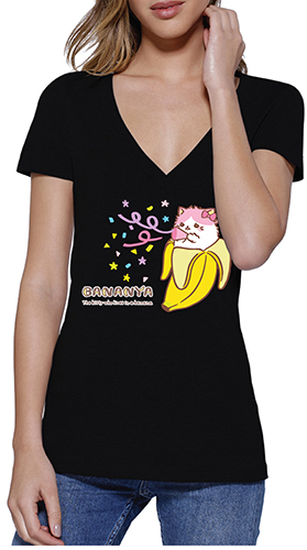 Bananya - Bananya-Ko Jrs. Screen Print T-Shirt S, an officially licensed Bananya product at B.A. Toys.