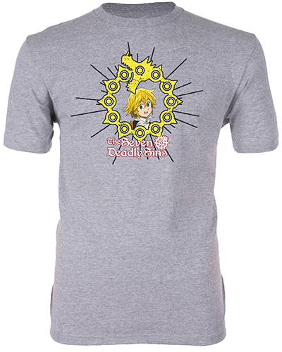 The Seven Deadly Sins - Meliodas Men's T-Shirt L, an officially licensed product in our The Seven Deadly Sins T-Shirts department.