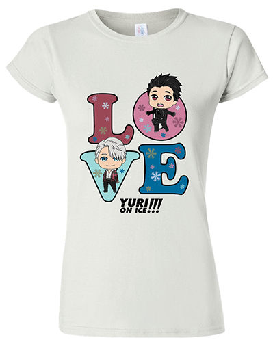 Yuri On Ice!!! - Love Jrs. T-Shirt L, an officially licensed product in our Yuri!!! On Ice T-Shirts department.