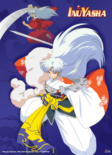 Inuyasha And Sesshomaru Wall Scroll, an officially licensed product in our Inuyahsa Wall Scroll Posters department.