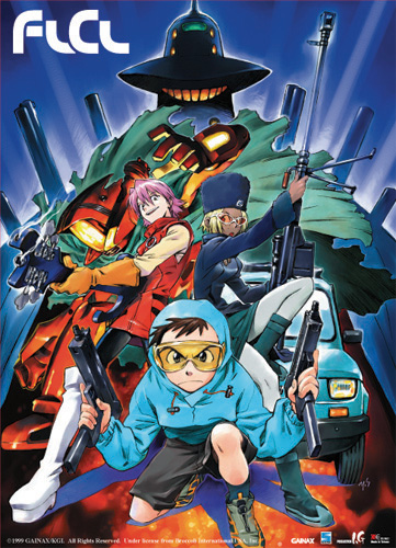 Flcl Survival Game Wall Scroll, an officially licensed FLCL Wall Scroll