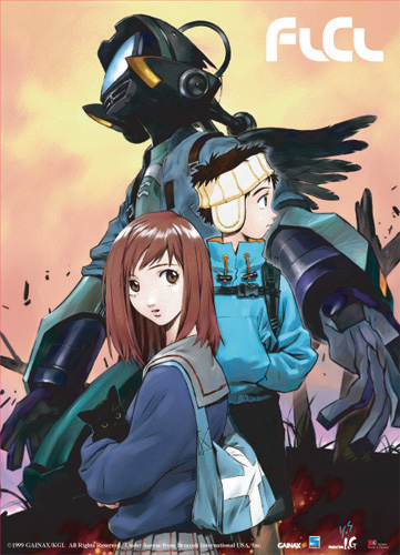 Flcl Mamimi & Naota & Canti Wall Scroll, an officially licensed FLCL Wall Scroll