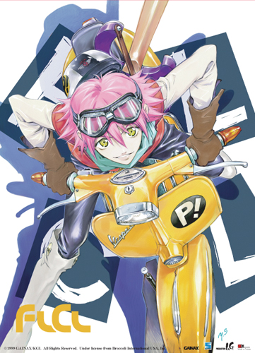 Flcl Haruko On Vespa Wall Scroll, an officially licensed product in our Flcl Wall Scroll Posters department.