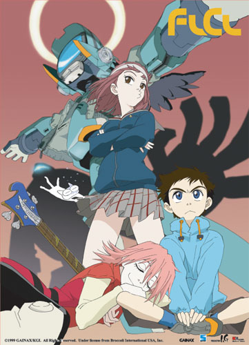 Flcl Mamimi & Canti Wall Scroll, an officially licensed product in our Flcl Wall Scroll Posters department.