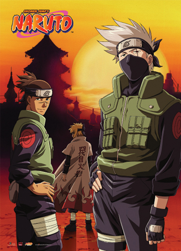 Naruto Kakashi & Iruka Wall Scroll, an officially licensed product in our Naruto Wall Scroll Posters department.