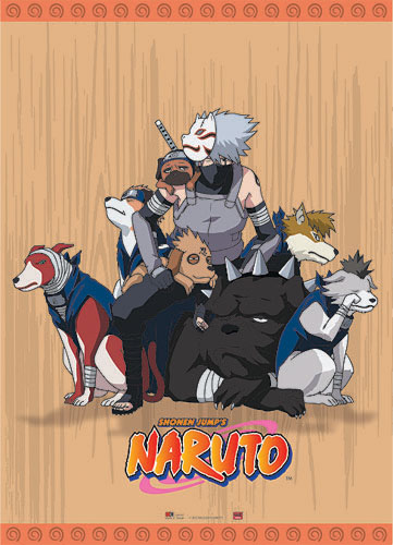 Naruto Kakashi W/ Dogs Wall Scroll, an officially licensed product in our Naruto Wall Scroll Posters department.