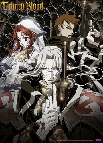 Trinity Blood Esther Abel Gunslinger Wall Scroll, an officially licensed product in our Trinity Blood Wall Scroll Posters department.