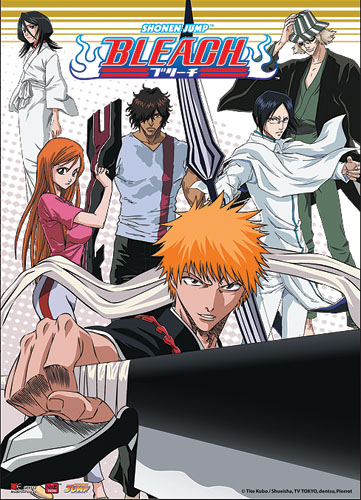 Bleach Ichigo Team Wall Scroll, an officially licensed Bleach product at B.A. Toys.