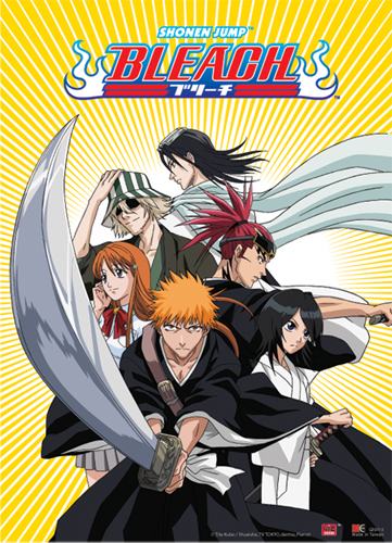 Bleach Ichigo Team With Byakuya & Renji Wall Scroll, an officially licensed Bleach Wall Scroll