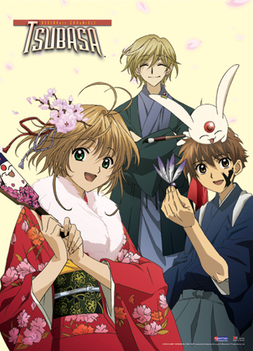 Tsubasa Syaoran, Sakura, Fai. Mokona Wall Scroll, an officially licensed product in our Tsubasa Wall Scroll Posters department.
