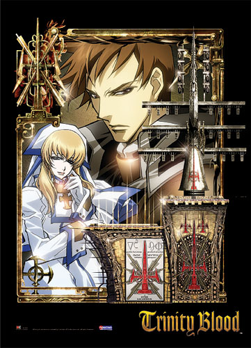 Trinity Blood Tres & Sister Cate Wall Scroll, an officially licensed product in our Trinity Blood Wall Scroll Posters department.