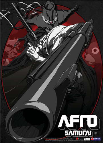 Afro Samurai Justice Holding Gun Wall Scroll, an officially licensed Afro Samurai Wall Scroll