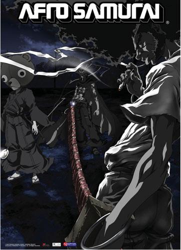 Afro Samurai Smoking Wall Scroll, an officially licensed Afro Samurai Wall Scroll