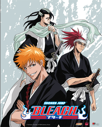 Bleach Ichigo Renji Byakuya Wall Scroll, an officially licensed product in our Bleach Wall Scroll Posters department.