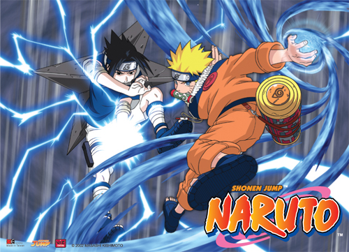 Naruto Rasengan Vs Chidori Wall Scroll, an officially licensed product in our Naruto Wall Scroll Posters department.