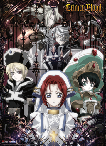 Trinity Blood Ion Seth Esther Wall Scroll, an officially licensed product in our Trinity Blood Wall Scroll Posters department.