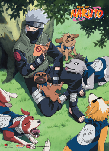Naruto Kakashi Reading Wall Scroll, an officially licensed product in our Naruto Wall Scroll Posters department.