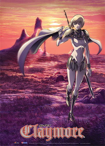 Claymore Wall Scroll, an officially licensed Claymore product at B.A. Toys.
