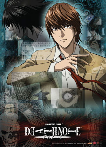 Death Note Light & L Collage Wall Scroll, an officially licensed Death Note Wall Scroll