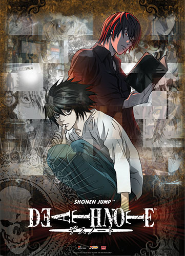 Death Note Light & L Wall Scroll, an officially licensed Death Note Wall Scroll