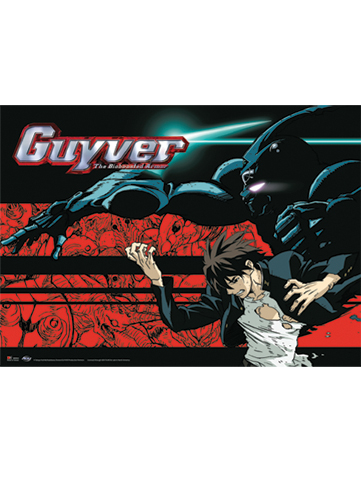 Guyver Fighting Stance Wall Scroll, an officially licensed product in our Guyver Wall Scroll Posters department.