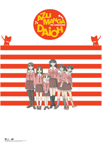Azumanga Daioh Group Wall Scroll, an officially licensed Azumanga Wall Scroll