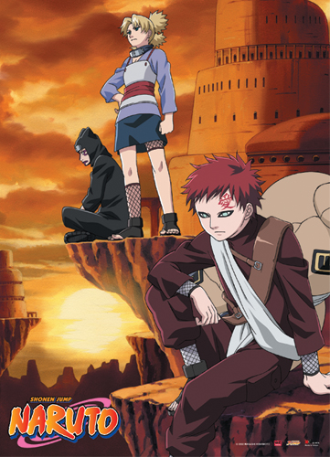 Naruto Gaara & Companion Wall Scroll, an officially licensed product in our Naruto Wall Scroll Posters department.