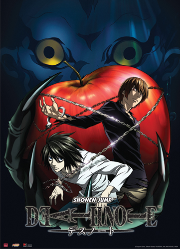 Death Note Ryuk & Apple Wall Scroll, an officially licensed product in our Death Note Wall Scroll Posters department.