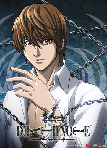 Death Note Light W/ Chain Wallscroll, an officially licensed Death Note Wall Scroll