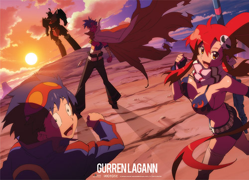 Gurrne Lagann Simon, Kimina, & Yoko Wall Scroll, an officially licensed product in our Gurren Lagann Wall Scroll Posters department.