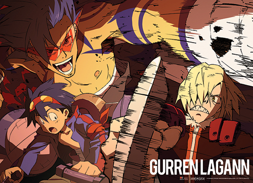 Gurran Lagann Simon & Kamina Vs. Viral Wall Scroll, an officially licensed product in our Gurren Lagann Wall Scroll Posters department.